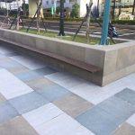 Taipei-piazza-pubblica-pavimentazione-pietra-sinterizzata-colosseo-porphyrbraun-svedese-duomo-blustone-grey-2-cm-spessore